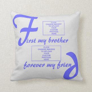 pillowBurst de Azul-Para siempre mi Brother Cojín