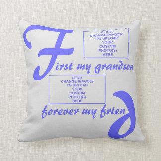 pillowBurst de Azul-Para siempre mi nieto Cojin