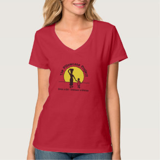 Pillowcase Project Red Scoop Neck T Tee Shirts