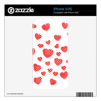 PILLOWED HEARTS iPhone 4 DECAL