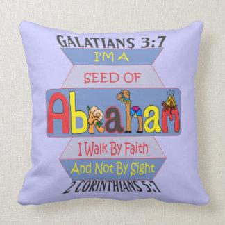 pillowKOZ02_2020eng_Seed of Abraham© Throw Pillow