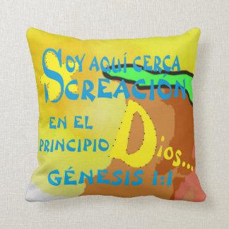 pillowKOZ07_1616spa_Aqui Cerca Creacion© Throw Pillow