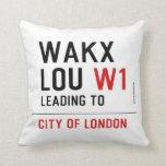 WAKX LOU  Pillows