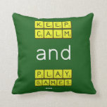 KEEP CALM and PLAY GAMES  Pillows