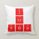 I Lv you  Pillows
