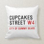 cupcakes Street  Pillows