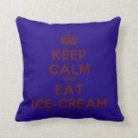[Crown] keep calm and eat ice-cream  Pillows