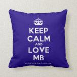 [Crown] keep calm and love mb  Pillows