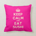 [Crown] keep calm and eat sushi  Pillows