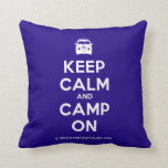 [Campervan] keep calm and camp on  Pillows