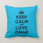 [Crown] keep calm and love omar  Pillows