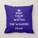 [Crown] keep calm and watch the walking dead  Pillows