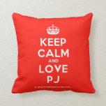 [Crown] keep calm and love pj  Pillows