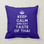[Crown] keep calm and eat taste of thai  Pillows