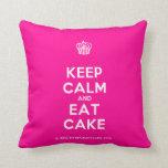 [Cupcake] keep calm and eat cake  Pillows