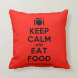 [Cutlery and plate] keep calm and eat food  Pillows