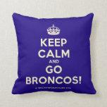 [Crown] keep calm and go broncos!  Pillows