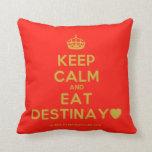 [Crown] keep calm and eat destinay♥  Pillows