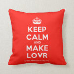 [Crown] keep calm and make lovr  Pillows
