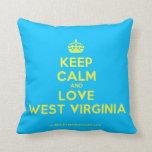 [Crown] keep calm and love west virginia  Pillows