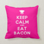 [Chef hat] keep calm and eat bacon  Pillows