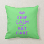 [Crown] keep calm and eat cake  Pillows