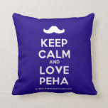 [Moustache] keep calm and love peha  Pillows