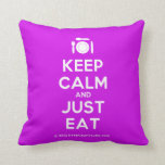 [Cutlery and plate] keep calm and just eat  Pillows