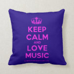 [Dancing crown] keep calm and love music  Pillows