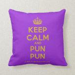 [Crown] keep calm and pun pun  Pillows