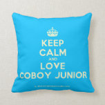 [Crown] keep calm and love coboy junior  Pillows