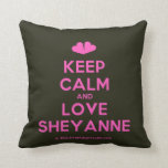 [Two hearts] keep calm and love sheyanne  Pillows