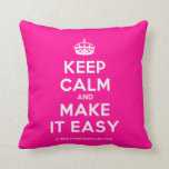 [Crown] keep calm and make it easy  Pillows