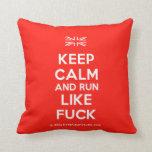[UK Flag] keep calm and run like fuck  Pillows