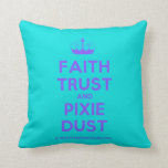 [Knitting crown] faith trust and pixie dust  Pillows