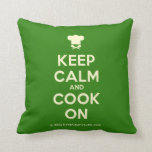 [Chef hat] keep calm and cook on  Pillows