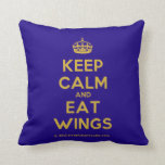 [Crown] keep calm and eat wings  Pillows