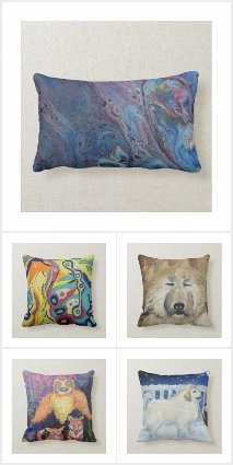 Pillows Art Abstract Animals Frog