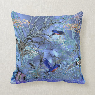 Pillows Blue Birds Enchanted