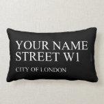 Your Name Street  Pillows (Lumbar)
