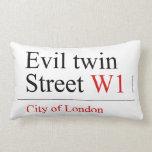 Evil twin Street  Pillows (Lumbar)