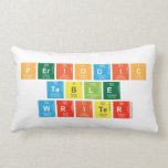 Periodic Table Writer  Pillows (Lumbar)