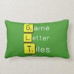 Game Letter Tiles  Pillows (Lumbar)