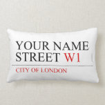 Your Name Street  Pillows (Lumbar)