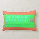 Capri Mickens  Swagg Street  Pillows (Lumbar)