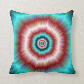 Pillows   Red and Blue Exploding Doughnut