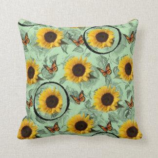 pillows sunflowers