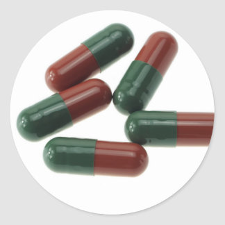 Pills-789 Classic Round Sticker
