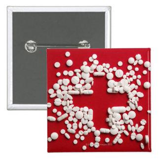 Pills Cross Pinback Button