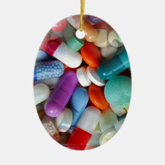 pills drugs ceramic ornament